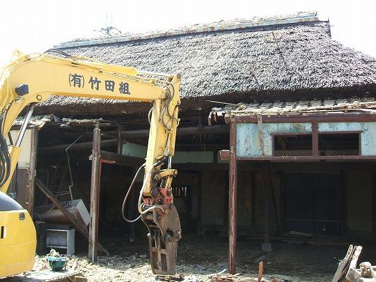 滋賀県栗東市 わらぶきの解体